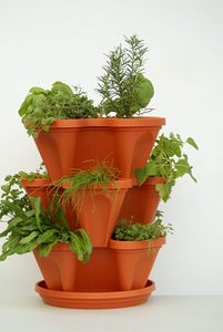 3 Tier Stackable Garden Indoor/Outdoor Planter Set - Self Watering