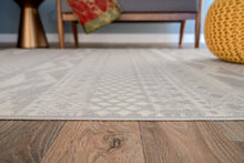 Contemporary Bohemian Gray Ivory Area Rug