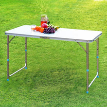 Steel Portable Folding Table with 4 Folding Chairs