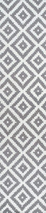 Kellee Contemporary Grey Wool Area Rug