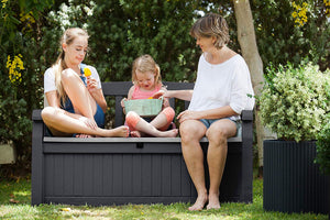 70 Gallon All Weather Outdoor Patio Storage Garden Bench Deck Box - Multiple Colors