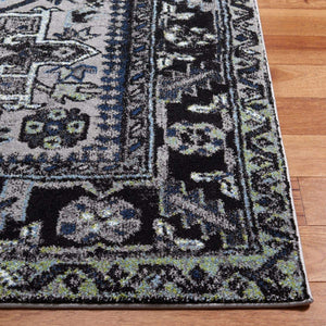 Oriental Persian Area Rug, Light Grey/Dark Grey
