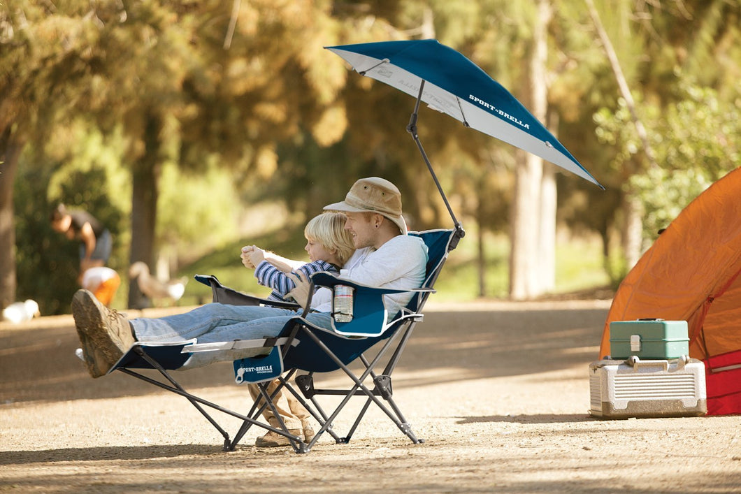 Shade Camp Recliner Chair with Umbrella