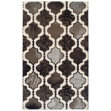 Modern Trellis Chocolate Brown Area Rug