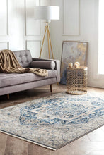 nuLOOM Ethel Medallion Fringe Area Rug Grey