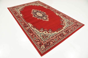 Traditional Red Soft Area Rug
