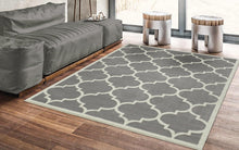 Gray/Grey White Area Rug