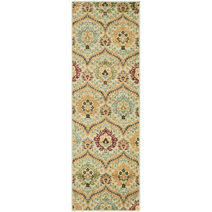 Beautiful Floral Camel Area Rug