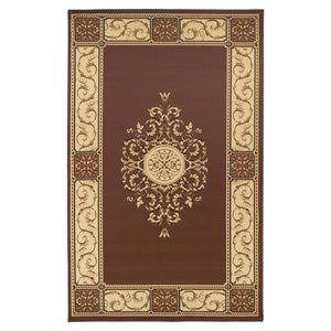 Floral Medallion Toffee Area Rug