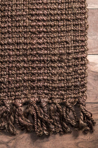 Chunky Loop Chocolate Jute Rug - Multiple sizes available