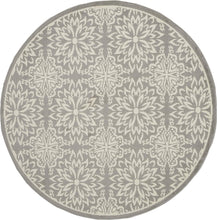 Transitional Floral Ivory/Grey Area Rug