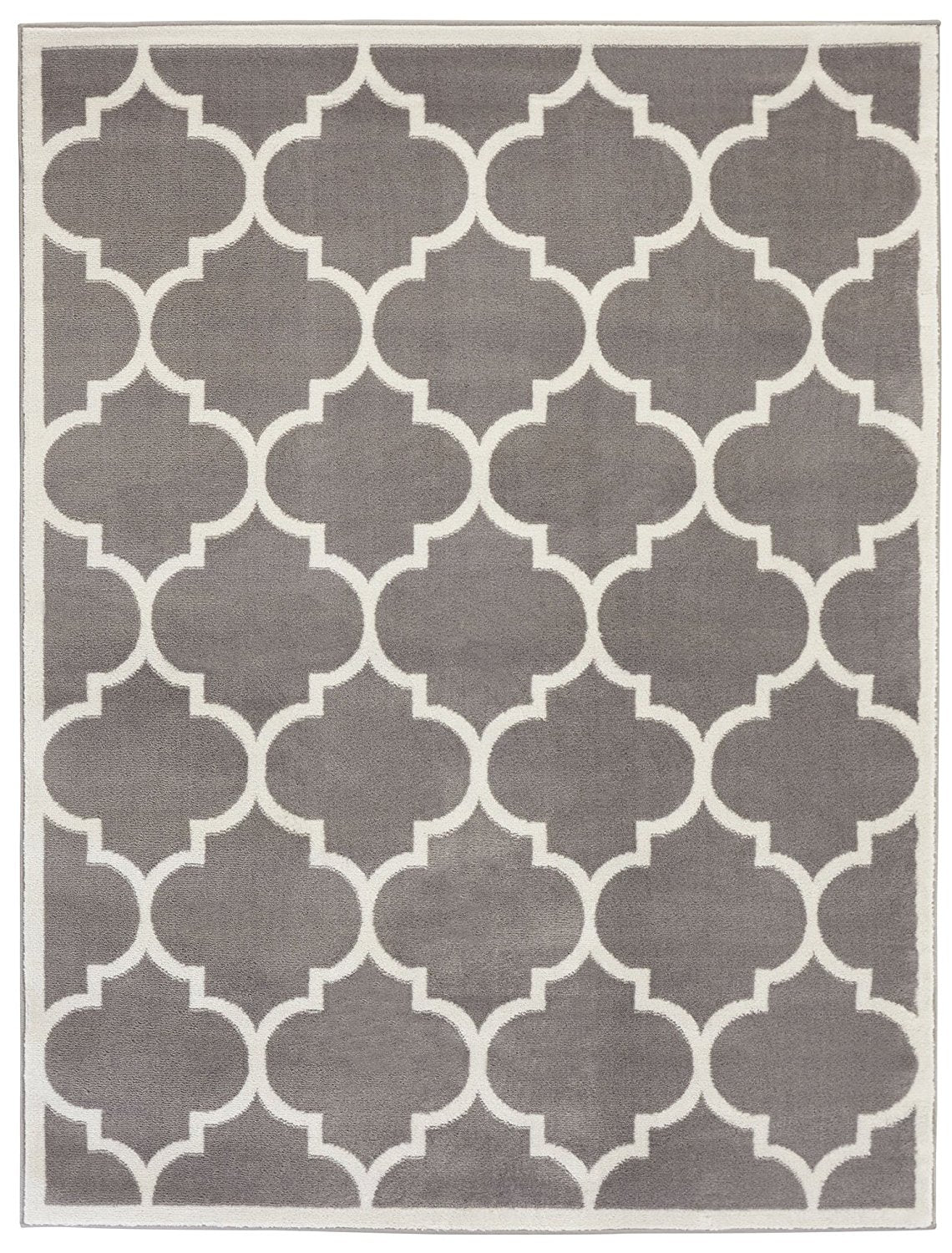 ... Gray/Grey White Area Rug ...