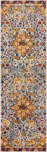 Yellow Blue Purple Vintage Floral Medallion Area Rugs