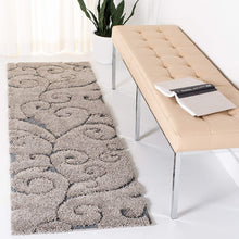 Premium Swirl Thick Plush  Grey/Light Blue  Area Shag Rug