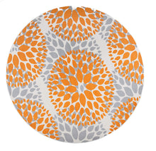 Floral Orange Gray Area Rugs