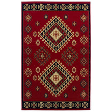 Southwest Style Bordered Red Area Rug