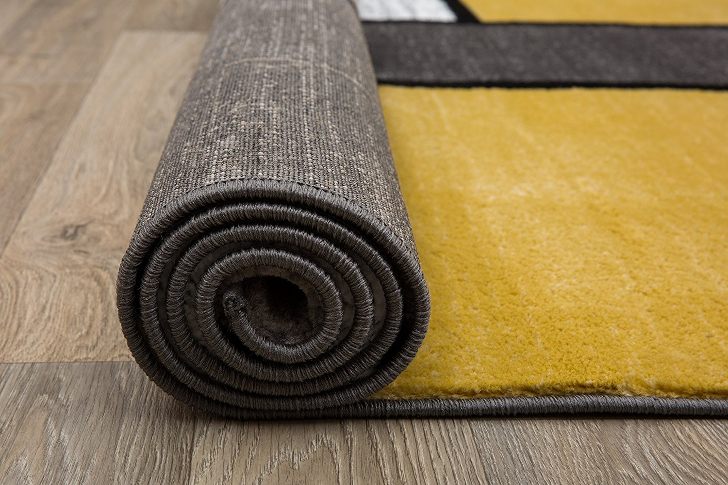 Modern Yellow Gray White Area Rug Modern Rugs And Decor