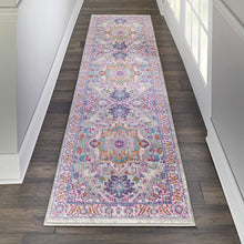 Passion Persian Colorful Light Grey/Pink Soft Area Rug