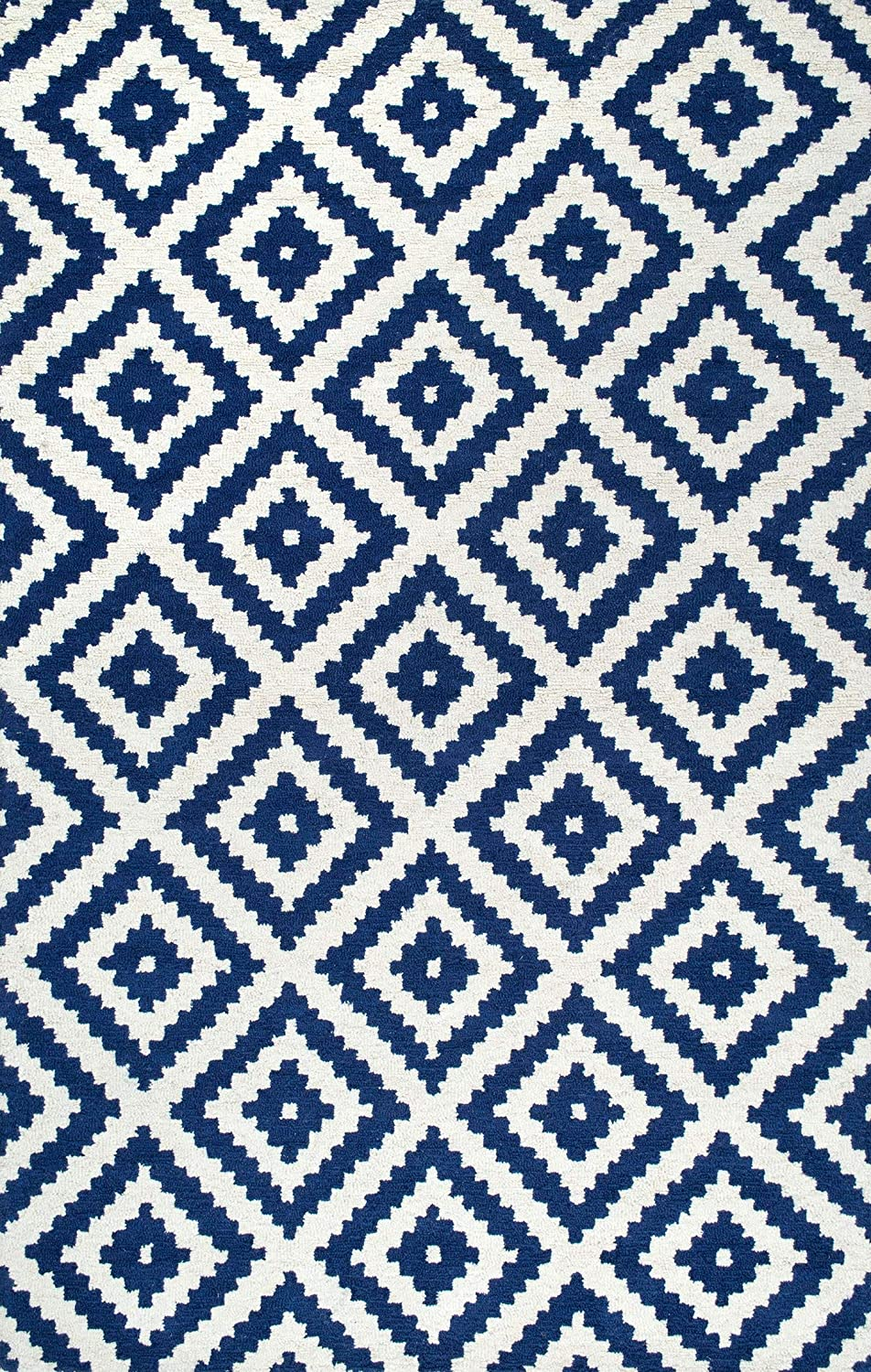 Kellee Navy Contemporary Wool Area Rug