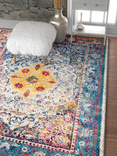 Multi-color Vintage Medallion Area Rugs