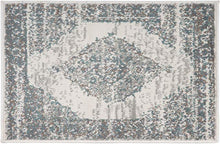 Traditional Medallion Gray Ivory Soft Area Rug