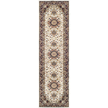 Traditional Design Ivory/Red Area Rug