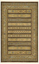 Tribal Pattern Brown Soft Area Rug
