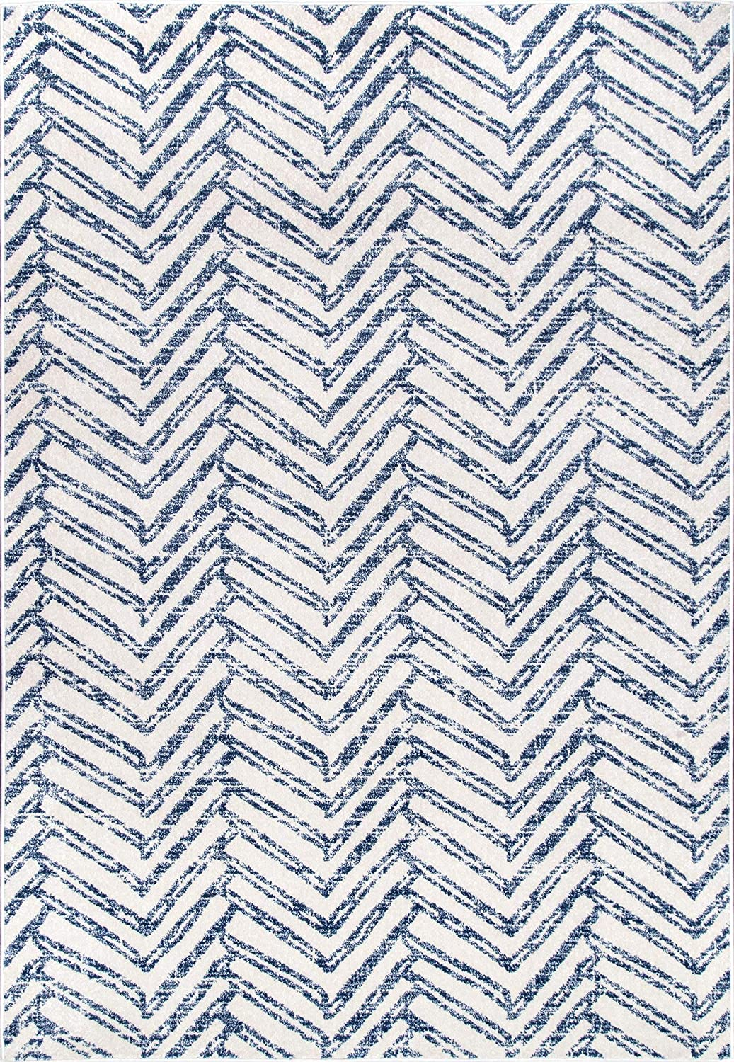 Geometric Area Rug,  Blue