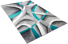Abstract Swirls Turquoise Soft Area Rugs