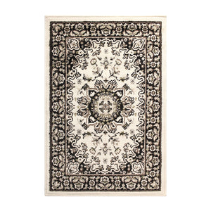 Traditional Design Ivory/Green Area Rug