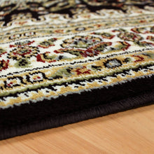 Traditional Design Red Black Area Rug