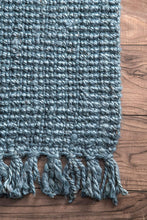 Chunky Loop Blue  Jute Rug - Multiple sizes available