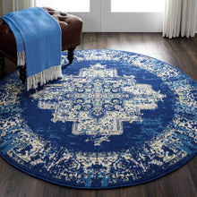 Navy Blue Distressed Persian Area Rugs