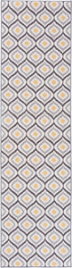 Moroccan Design Gray Yellow Non-Skid Low Pile Area Rug