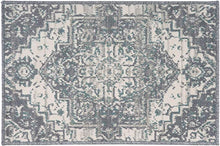 Traditional Medallion Sage Green Cream Soft Area Rug