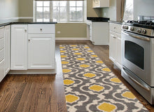 Trellis Gray/Grey Yellow Indoor Area Rug