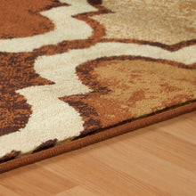 Modern Geometric Trellis Brown Soft Area Rug