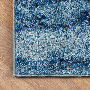 Contemporary Abstract Blue Soft Area Rug