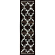 Trellis Black Ivory Grey/Gray Area Rug