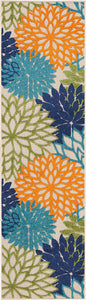 Floral  Indoor/Outdoor Multicolor Area Rug