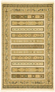 Tribal Pattern ivory Soft Area Rug