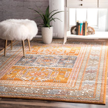 Muted Yellow Bohemian Pattern Soft Area Rugs