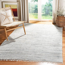 Hand Woven Grey Cotton Area Rug