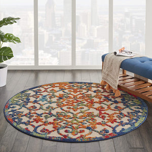 Multicolor Easy-Care Indoor-Outdoor Rug
