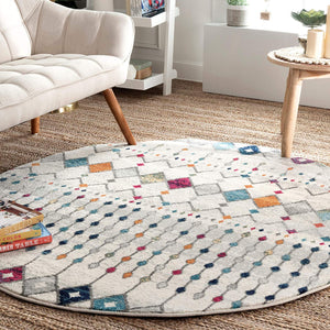 Trellis Ivory Multi Soft Area Rugs