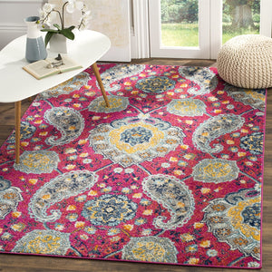 Floral Fuchsia/Gold Soft Area Rugs