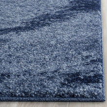 Light Blue and Blue Modern Area Rug