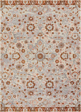 Vintage Floral Medallion Gray/Grey Copper Area Rugs