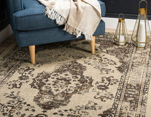 Vintage Traditional Beige Brown Area Rug