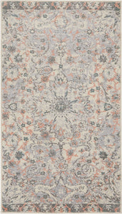 Vintage Floral Medallion Gray/Grey Pink Area Rugs